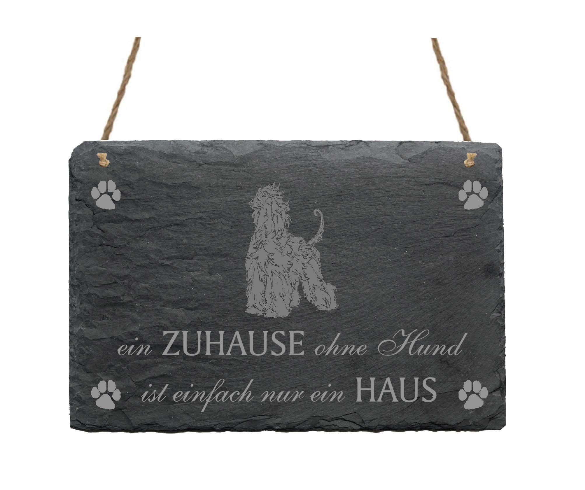 Afghan Hound Dog Slate Plaque Sign 'A home without a dog is just a house' 2Slate Sign Afghan Hound Dog Clip On Back Cover