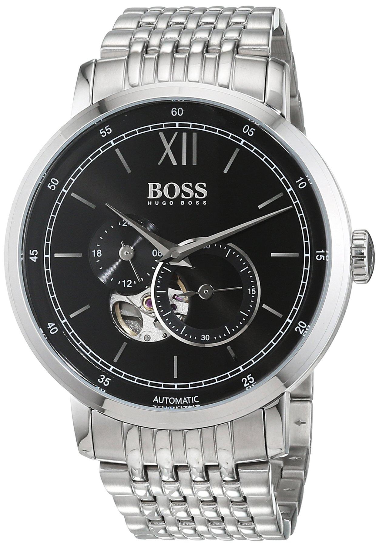 Hugo BOSS Reloj Análogo clásico para Hombre de Automático con Correa en Acero Inoxidable 1513507