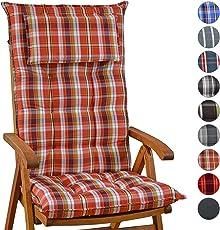 Homeoutfit24 Gartenstuhl Auflage (120 X 50 Cm) Sylt, Hochlehner Auflage Mit  Abnehmbarem Kopfpolster