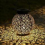 Lanterne Solaire, LED Lampe lanterne extérieure, Etanche IP44, Sans fil Rechargeable pour Garden Patio Courtyard Extérieur [C