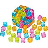 Relaxdays 10027873 réutilisables, Lot de 100, Plastiques pour Boissons, Faux glaçons, Multicolore