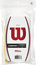 Wilson WRZ4017WH Pro Tennis Overgrip, Pack of 30 (White)