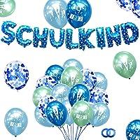 Schulkind Deko Junge, Einschulung Deko Blau Grün, Einschulungsdeko Junge, Schuleinführung Deko Schulanfang deko mit 29…