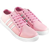 Bella Toes Presents Women's/Ladies/Female/Girls Lightweight Comfortable, Casualwear White Lace-Up Sneakers Shoes_(8804)
