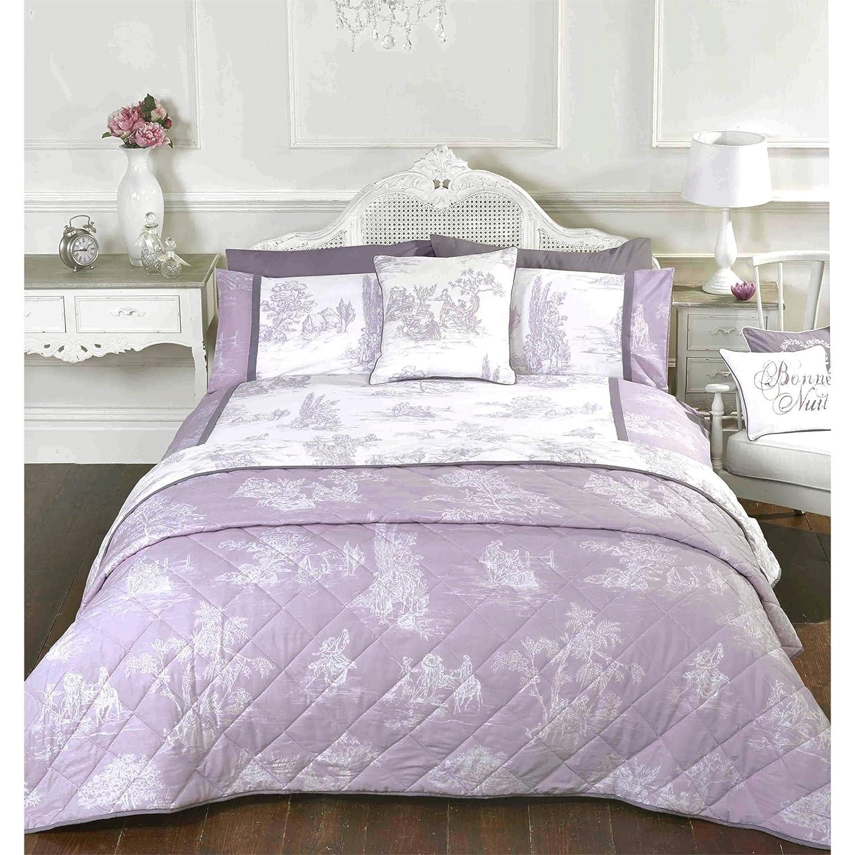 just contempo toile de jouy duvet cover double purple amazoncouk kitchen u0026 home
