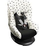 Dooky Black Feather Funda De Asiento Infantil (Ajuste Universal Para Muchos Modelos Populares, Grupo De Edad 1+ 9-18 Kg, Sist