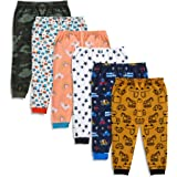 minicult Cotton Interlock Baby Pants for Winter with Cute Prints (Mixed Prints) (Pack of 6)