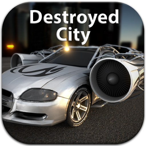 jet-car-destroyed-city