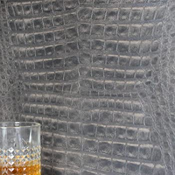 2S0204 2nd Skin Animal Snake Crocodile skin Grey Galerie Wallpaper
