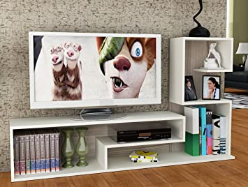 DUCHESS Set Soggiorno - Bianco / Avola - Mobile TV Porta con ...