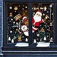 heekpek Feliz Navidad Papá Noel Muñeco de Nieve Alce de la Puerta Decoración de Ventana Reutilizable Bricolaje Pegatinas Elec