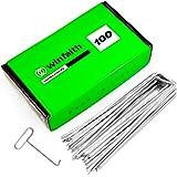 Winfaith Haringen voor grasmat 100 stuks RVS EN 10204 3.1 thermisch verzinkt Italiaanse kwaliteit - roestvrije tuinplug voor
