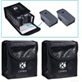 CamKix Sac de Batterie LiPo antidéflagrant Compatible avec DJI Mavic Pro/Platinum – Ensemble de 2 (4 Batteries Mavic) - Sécurité et de Rangement résistant au feu - Charge + Transport sécurisés
