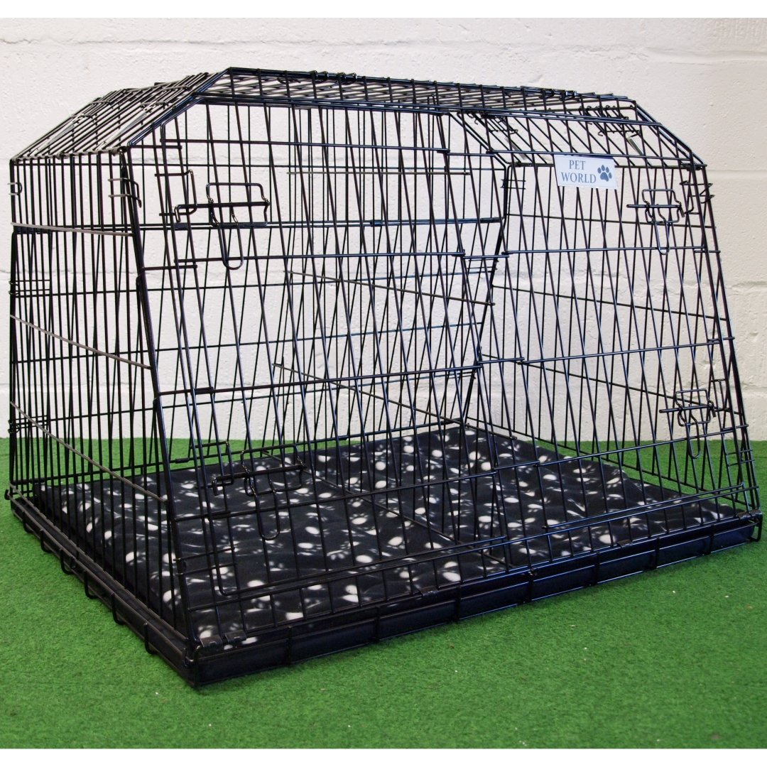 Arrow 38″ SLOPING CAR DOG CAGE ESTATE & 4×4 CAGES BOOT TRAVEL CRATE PUPPY GUARD est38l