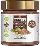 MAAMA | SPALMABILE ALLA NOCCIOLA (70%) & RAW CACAO | Cioccolato Raw Biologico | Vegano, Kosher | Ricco di Nutrienti | 1 x 200 g