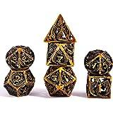 Set Dadi D&D Dungeons&Dragons, Vuoto Dadi da Gioco Poliedrici Metallo Dice Set Rpg, per Dungeons Dragons Gioco da Tavolo DND