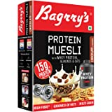 Bagrry's Protein Muesli with Whey Protein, Almonds and Oats, 500g