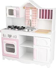 KidKraft 53222 Modern Country Spielküche Landhaus aus Holz für Kinder