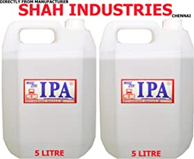 CLEANMAX IPA 99% ISOPROPYL Alcohol (E-Grade) 5L (Pack of 2) to Clean Mobiles/Laptops/LCD Monitors & Electronic Boards - Electronic Services.