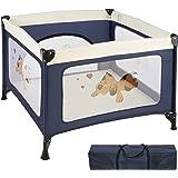 TecTake Kinder Reisebett Laufstall mit Babyeinlage - diverse Farben -