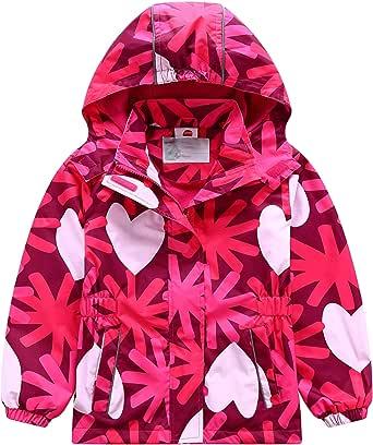 FAIRYRAIN Kinder Jungen wasserdichte Jacke /Übergangsjacke Regenjacke Kinder Softshelljacken mit Camouflage Muste Wanderjacke Outdoorjacke