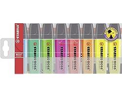 Evidenziatore - STABILO BOSS ORIGINAL - Astuccio da 8 in 7 Colori assortiti