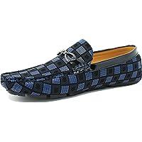 Evoga Mocassini uomo Class eleganti scarpe in ecopelle con fibbia