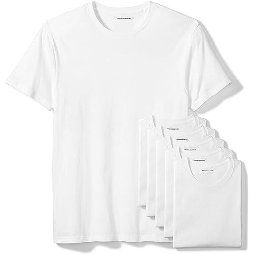 Amazon Essentials Confezione da 6 Magliette Girocollo Uomo, Pacco da 6