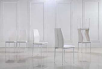 I Flair 4er Oder 6er Set Stühle Stuhl Esszimmerstühle, Küchenstühle Mit  Hochwertigem Kunstlederpolster Raul