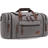 Fresion Große Reisetasche Canvas Sporttasche Schultertasche Tote Handtasche Männer Weekender Tasche Duffle Bag für…
