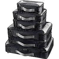 G4Free 3pcs/6pcs/7pcs Packing Cubes Suitcase Organiser Packing Bags Luggage Organiser Value Set for Travel Home Storage