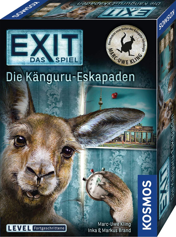 KOSMOS-695071-EXIT-Das-Spiel-Die-Knguru-Eskapaden-fr-Fans-von-Marc-Uwe-Klings-Knguru-Geschichten-Level-Fortgeschrittene-Escape-Room-Spiel