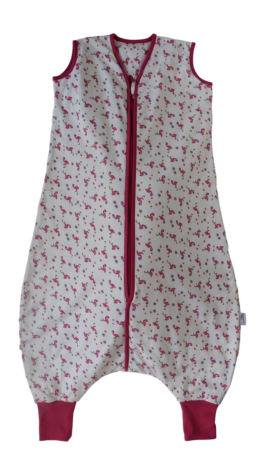 Slumbersac Saco de dormir de verano con pies 1.0 Tog – Flamingo – 18-24 meses/90cm