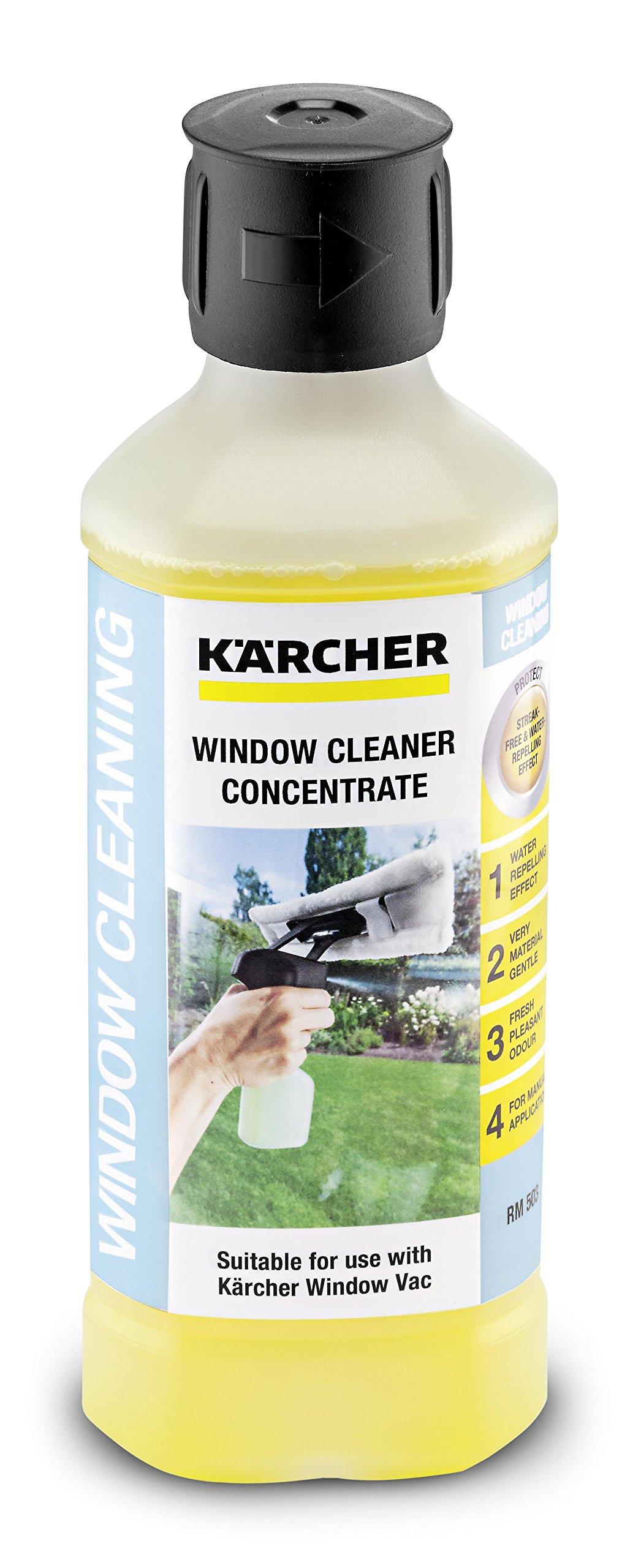 Kärcher Glasreiniger-Konzentrat RM 503 (Volumen: 0,5 l, streifenfreie Reinigung von Glas, Fenster, Spiegel und…
