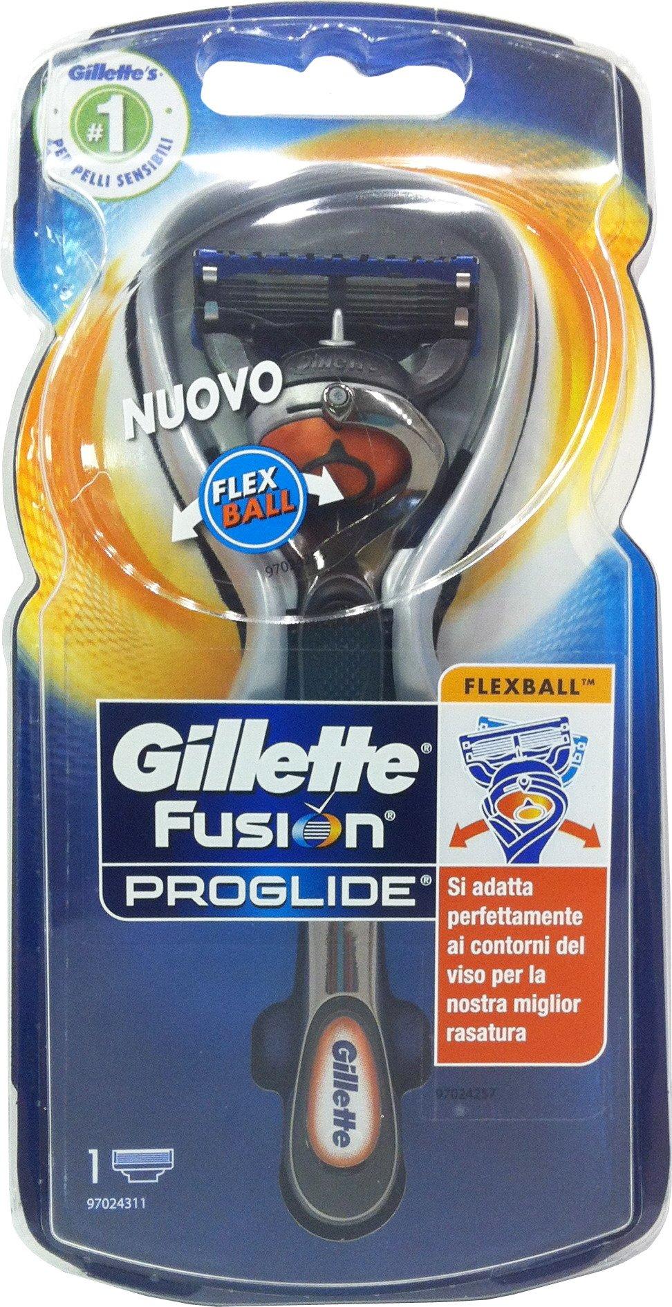 6 x GILLETTE Rasoio Fusion Flexball Proglide Manual Sistema