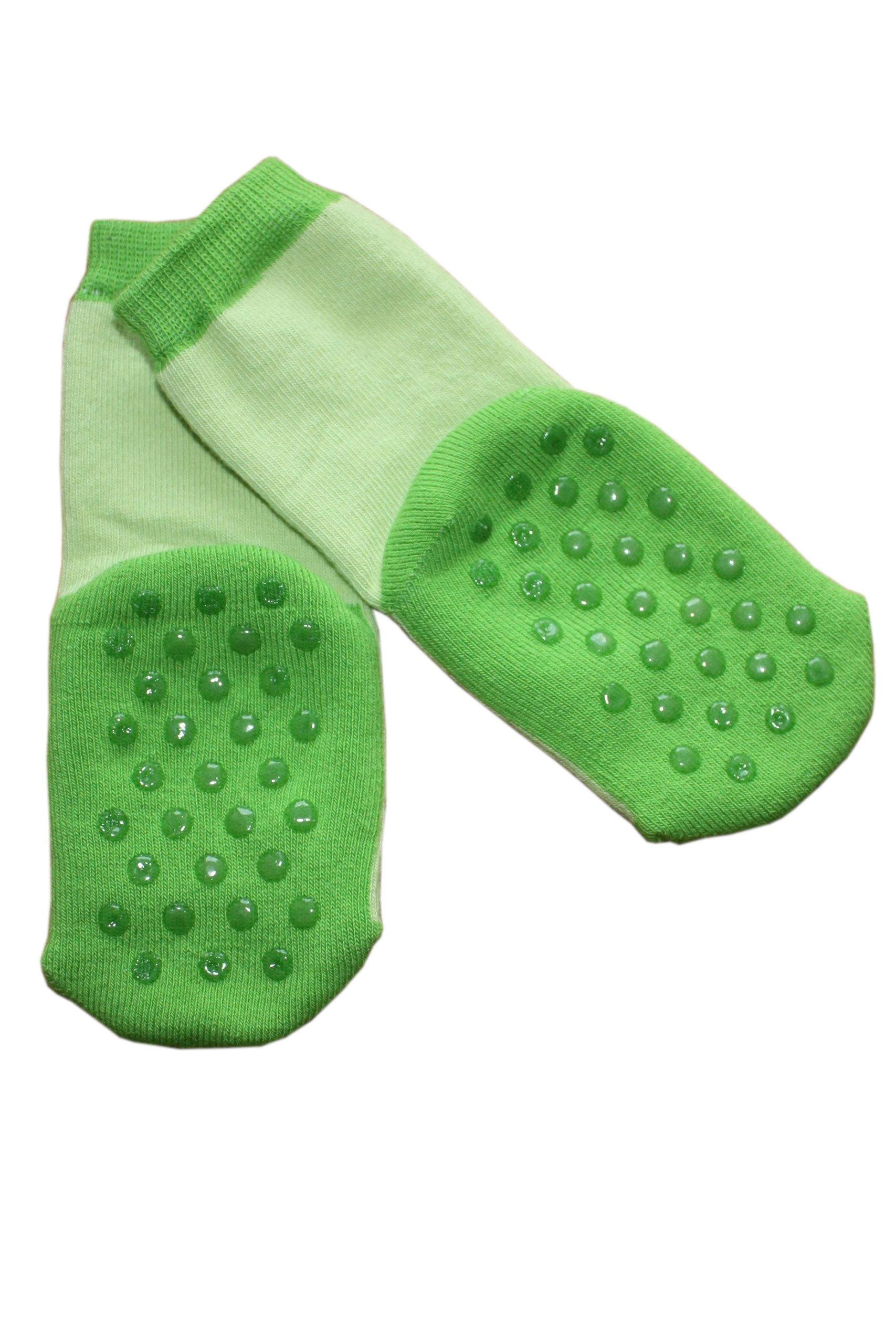 Weri Spezials ABS Pantoufle Chaussons Chaussettes Antiderapants 3-6 Mois (15-16) Vert 1