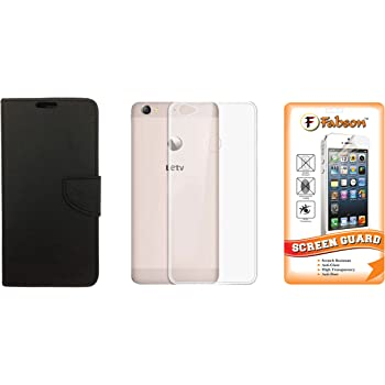 Fabson Back Cover & Flip Cover for LeEco Letv Le 1S with 1 Screen Guard - Black