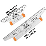 KHYATI Roll N Draw Ruler (16 cm and 30 cm)- Plastic Drafting Scale Ruler Very Useful to Architect, Engineering Students, Offi