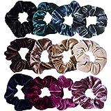 12 stuks fluwelen haarelastiekjes voor meisjes en dames, voor elke outfit, 12 kleuren