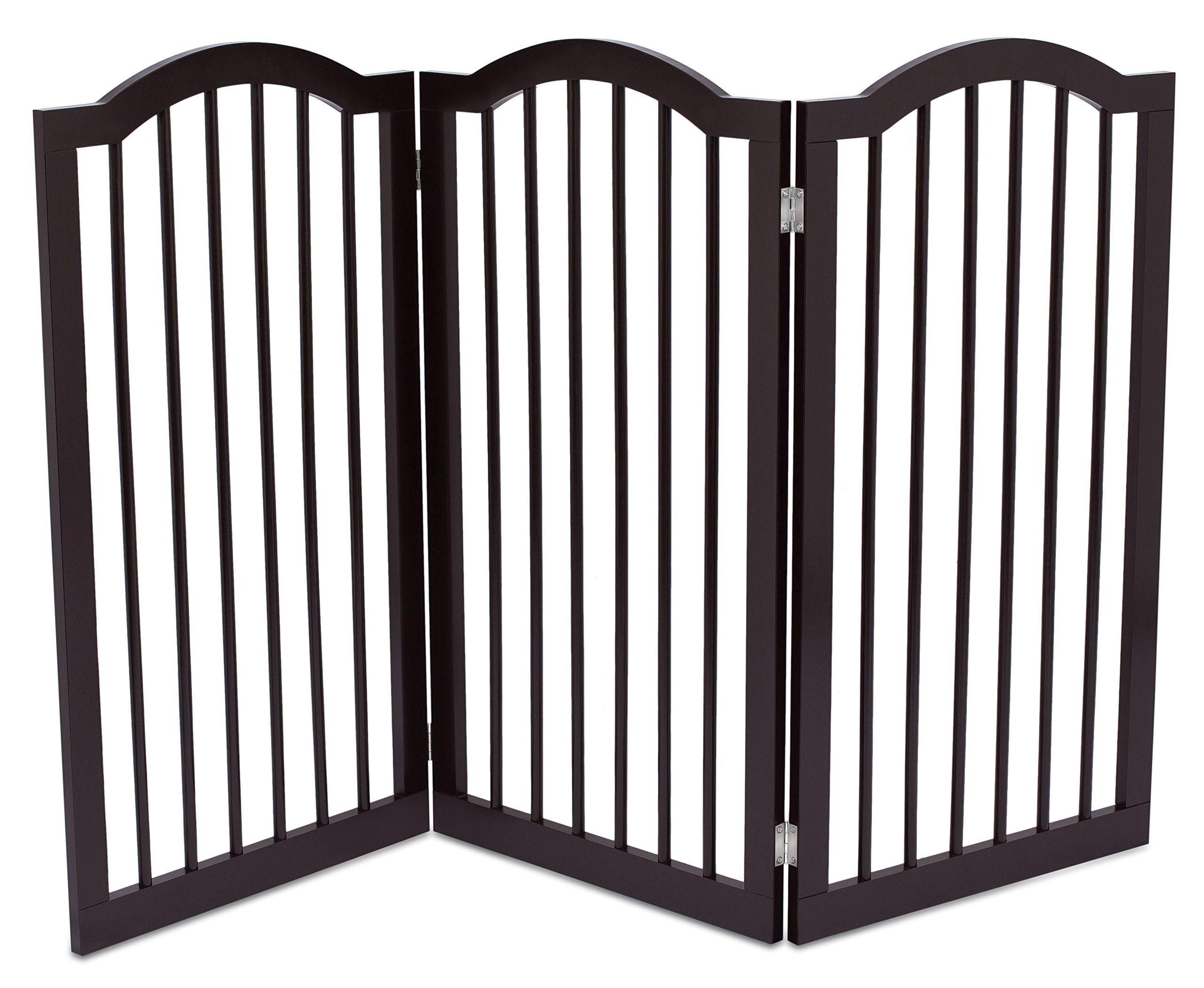 dog safety gate stairs barrier wooden tall fence wall door. Black Bedroom Furniture Sets. Home Design Ideas