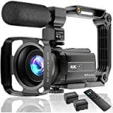 4K Video Camera Camcorder UHD 48MP WiFi IR Night Vision Vlogging Camera for YouTube Touch Screen 16X Digital Zoom Camera…
