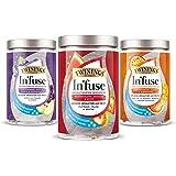Twinings In'fuse Set de 3 (myrtille, pomme et groseille) + (pastèque, fraise et menthe) + (fruit de la passion, mangue et ora