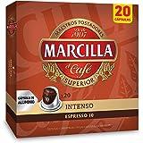 Marcilla Café Intenso - 200 cápsulas compatibles con máquinas Nespresso*® (10 paquetes de 20 unidades)