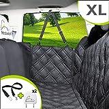 Meadowlark® X-Large Hundbilsätesskydd för baksätet, vattentätt! Hela bilskydd-dörrar, nackstöd och baksäte. Sidoflik med drag