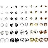 YADOCA 30 Paia Assortiti Orecchini Multipli Per Le Donne Ragazze Adolescenti Perle Di Cristallo Sfera Piercing Dichiarazione
