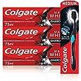 Colgate Charcoal Whitening Set met Colgate Max White Charcoal tandpasta 3 x 75 ml en Colgate 360° Deep Clean Charcoal Whiteni