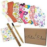 Natur'Eden® Set Serviettes Hygiéniques Lavables et Brosse à Dents Bambou - 7 Serviettes Protections Menstruelles - Serviette