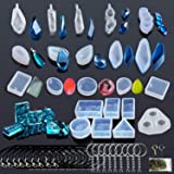 Woohome 43 Pz Stampo Silicon, Stampi per Resina e Strumenti Set con Viti Perni per La Produzione di Gioielli Artigianali