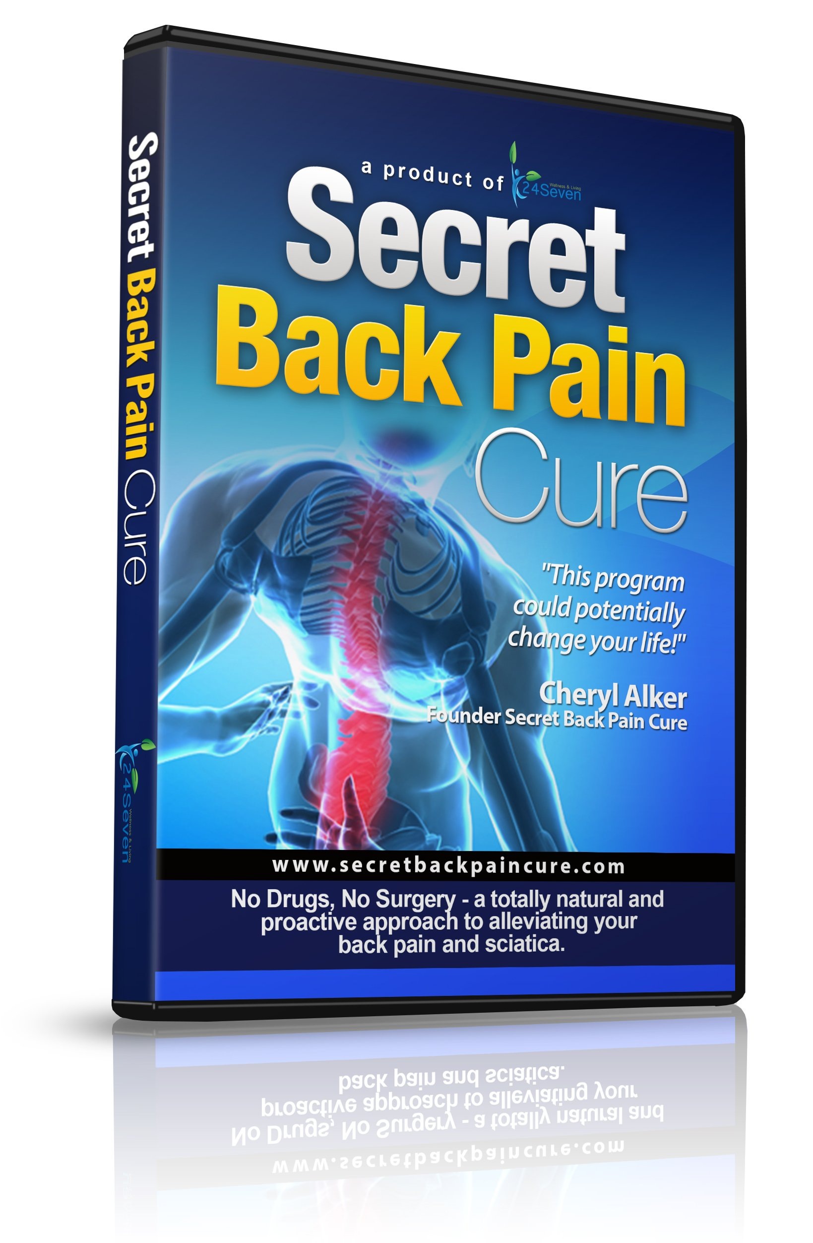 Back Pain Relief DVD By 24seven Wellness & Living, Say Goodbye to Lower, Upper, Neck and Sciatic Pai