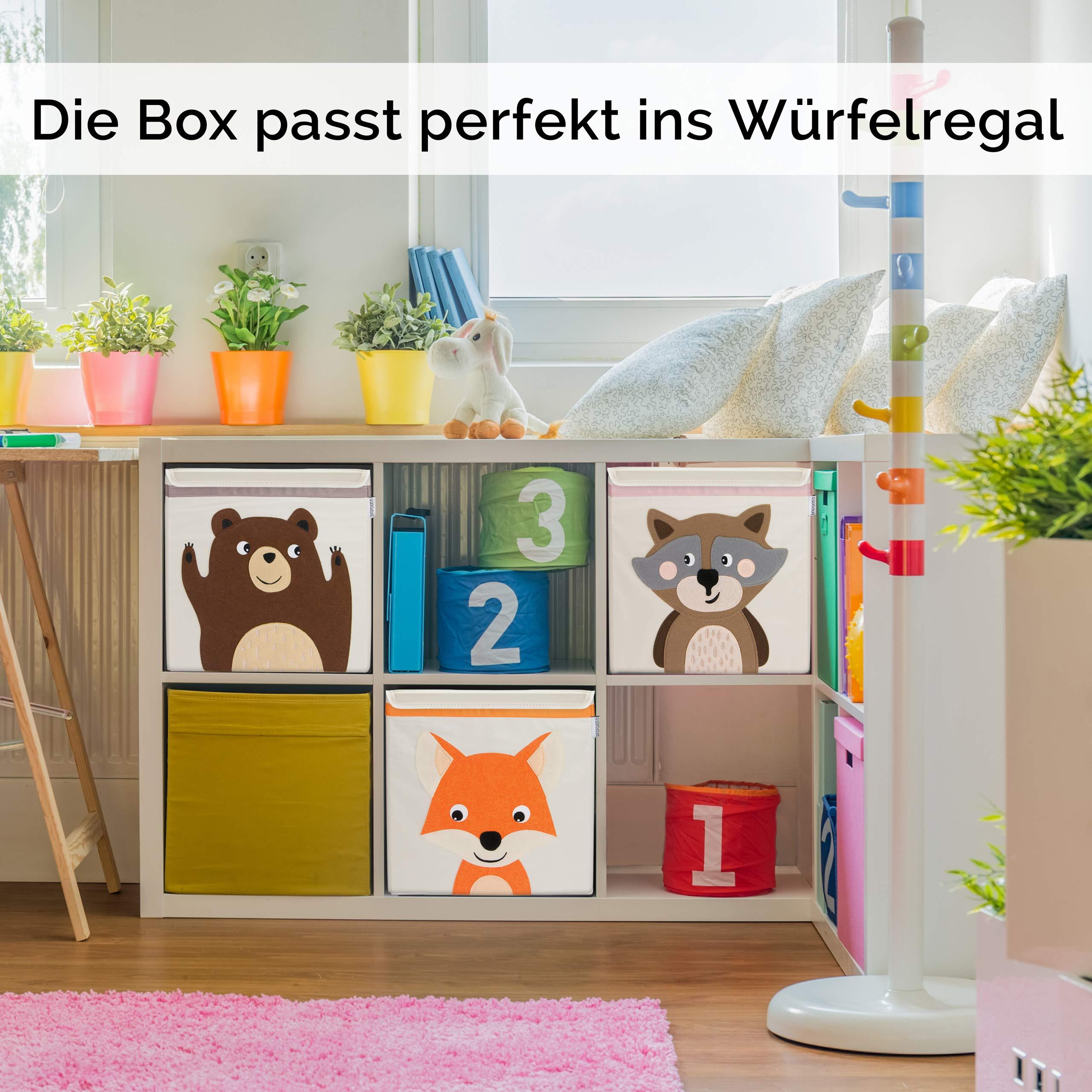 GLÜCKSWOLKE Aufbewahrungsbox für Kinderzimmer I praktische Spielzeug-Kiste  mit Deckel und Griffen I Spielzeug-Box (33x33x33) zur Aufbewahrung im ...